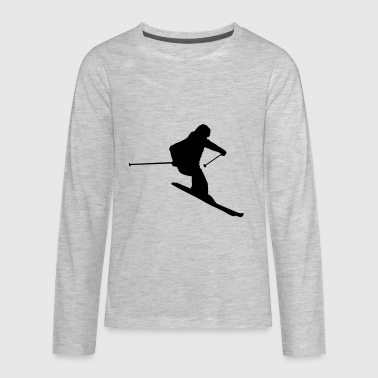 Skiing, Skier - Kids' Premium Long Sleeve T-Shirt