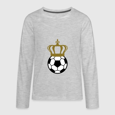 Football, Soccer King (3 colors) - Kids' Premium Long Sleeve T-Shirt
