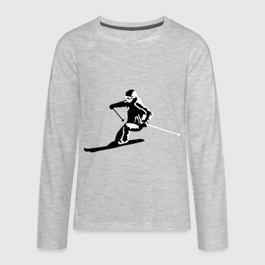 Skiing, skier, ski - Kids' Premium Long Sleeve T-Shirt