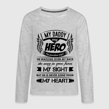 My Hero My Daddy - Kids' Premium Long Sleeve T-Shirt