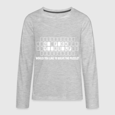 Would You Like To Solve The Puzzle - Kids' Premium Long Sleeve T-Shirt