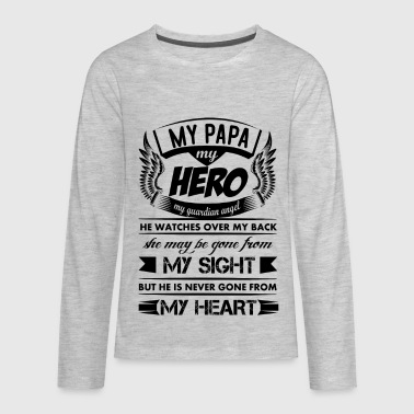 My Hero My Papa - Kids' Premium Long Sleeve T-Shirt