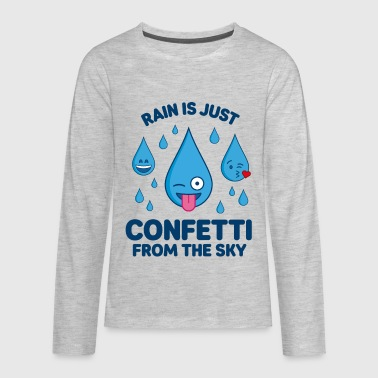 Confetti Rain Is Confetti – Emojis - Kids' Premium Long Sleeve T-Shirt