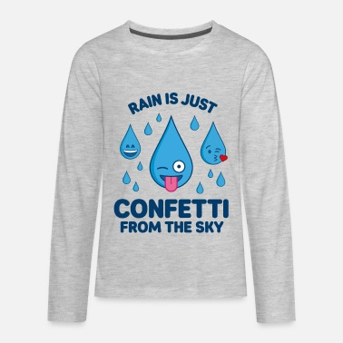 Emoji Rain Is Confetti – Emojis - Kids' Premium Long Sleeve T-Shirt