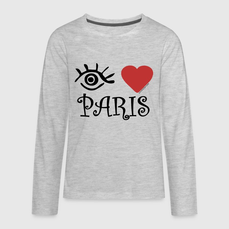 Eye-Love Paris - Kids' Premium Long Sleeve T-Shirt