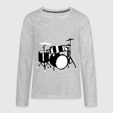 Drums - Kids' Premium Long Sleeve T-Shirt