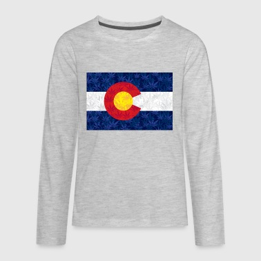 COLORADO-POT-FLAG-Final - Kids' Premium Long Sleeve T-Shirt