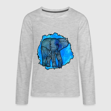 Elephant Shirt - Kids' Premium Long Sleeve T-Shirt