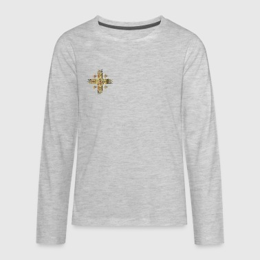 ORNATE CROSS - Kids' Premium Long Sleeve T-Shirt