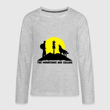 Hiking Man Hiking man - The mountains are calling - Kids' Premium Long Sleeve T-Shirt