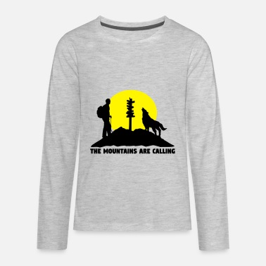 Hike Hiking man - The mountains are calling - Kids' Premium Long Sleeve T-Shirt