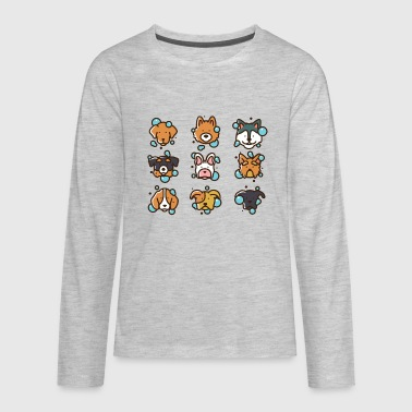 Dog Wash - Vector Illustration - Kids' Premium Long Sleeve T-Shirt