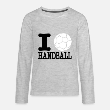 Handball i love handball ball 2c - Kids' Premium Longsleeve Shirt