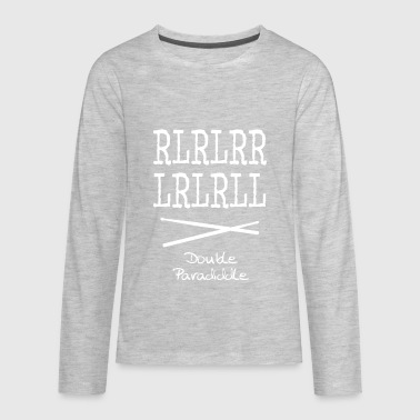 Double Paradiddle - Kids' Premium Long Sleeve T-Shirt