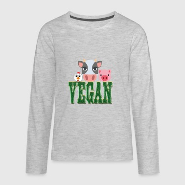 Vegan Kid VEGAN - Kids' Premium Long Sleeve T-Shirt