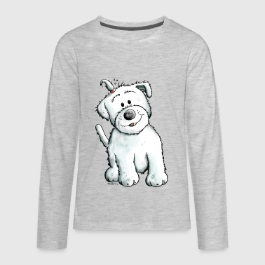 Cute Maltese Puppy - Dog - Gift - Comic - Kids' Premium Long Sleeve T-Shirt
