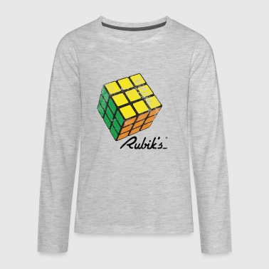 Rubiks Cube Rubik's Cube Solved Colourful Vintage - Kids' Premium Long Sleeve T-Shirt