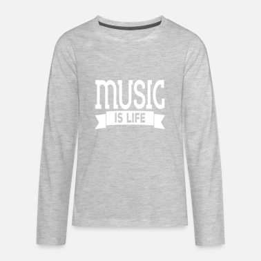 Music Is Life Pulse music is life - Kids' Premium Long Sleeve T-Shirt