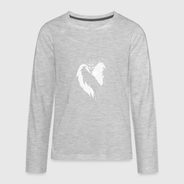 Arrow Crown white - Kids' Premium Long Sleeve T-Shirt
