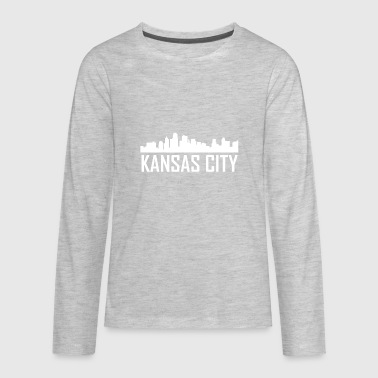 Kansas City Kansas City Kansas City Skyline - Kids' Premium Long Sleeve T-Shirt