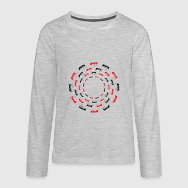 Worker Ant Circle of ants - Kids' Premium Long Sleeve T-Shirt