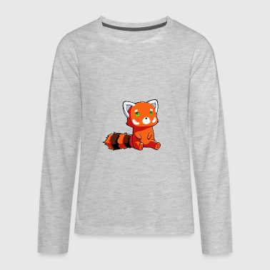 Raccoon Orange Bear - Kids' Premium Long Sleeve T-Shirt
