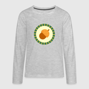 acorn badge - Kids' Premium Long Sleeve T-Shirt
