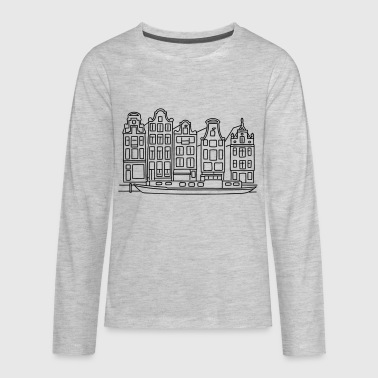 Amsterdam Canal houses - Kids' Premium Long Sleeve T-Shirt