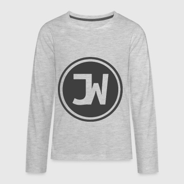 Grey Johannes With Logo - Kids' Premium Long Sleeve T-Shirt