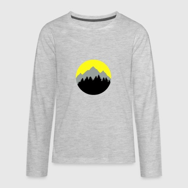 Calgary Rocky Mountains Forest, Mountains, Sunrise/Sunset - Kids' Premium Long Sleeve T-Shirt