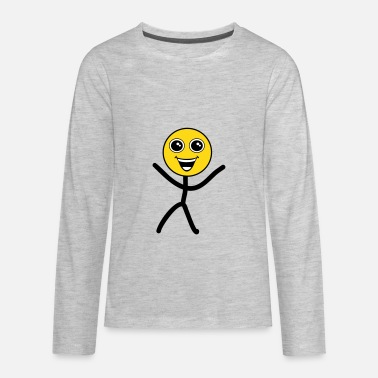 Emoticon Child Happy smiley - Kids' Premium Long Sleeve T-Shirt