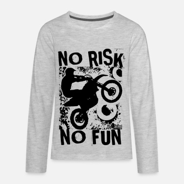 Ktm Motocross No Risk No Fun - Kids' Premium Long Sleeve T-Shirt