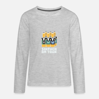 Sixpack Beer Sixpack Beer on Tour Sn1pu - Kids' Premium Long Sleeve T-Shirt