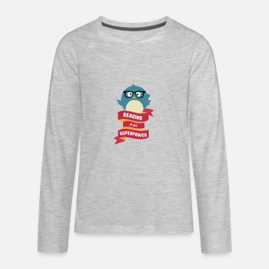 Kids Reading Reading is my Superpower S2g6d - Kids' Premium Long Sleeve T-Shirt