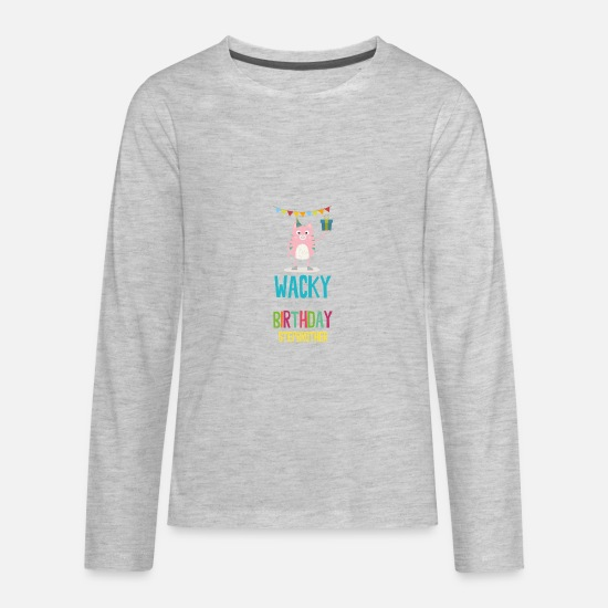 Beautiful T-Shirts - wacky Birthday stepbrother - Kids' Premium Longsleeve Shirt heather gray