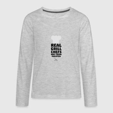 Real Grill Chefs are from Malaysia S8q2q - Kids' Premium Long Sleeve T-Shirt