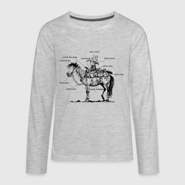 Thelwell Learning Western Riding - Kids' Premium Long Sleeve T-Shirt