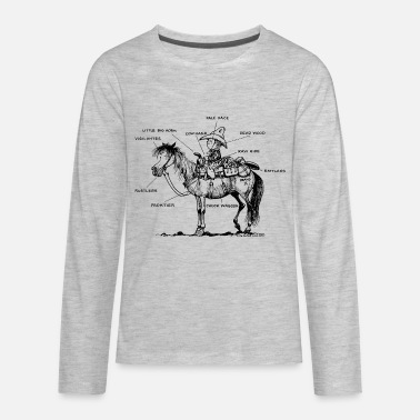 Western Riding Thelwell Learning Western Riding - Kids' Premium Long Sleeve T-Shirt