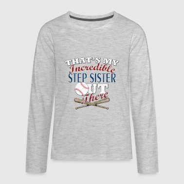 Softball Step Sister or Brother Gift - Kids' Premium Long Sleeve T-Shirt