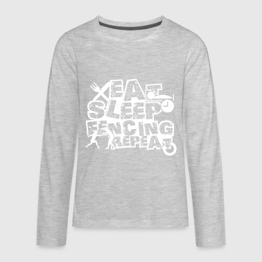 Eat Sleep Fencing Shirt - Kids' Premium Long Sleeve T-Shirt