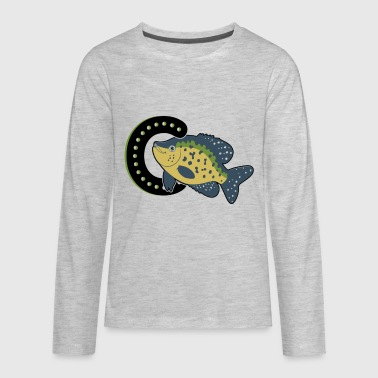 Is For Crappie Fish Shirt - Kids' Premium Long Sleeve T-Shirt
