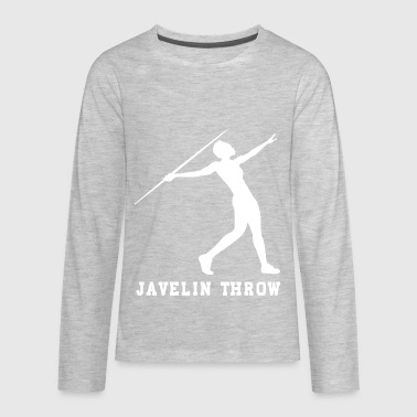 JAVELIN THROW - Kids' Premium Long Sleeve T-Shirt