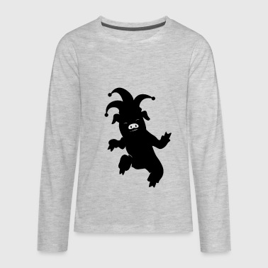 Clown Pig Joker - Kids' Premium Long Sleeve T-Shirt