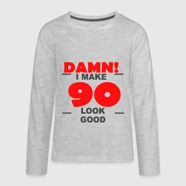 90th birthday - Kids' Premium Long Sleeve T-Shirt
