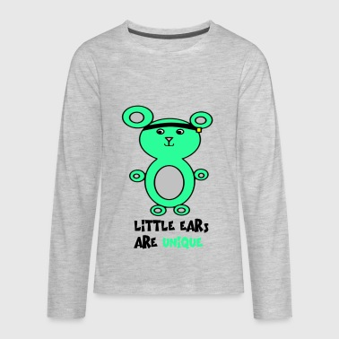 Microtia Left-sided with aid - Kids' Premium Long Sleeve T-Shirt