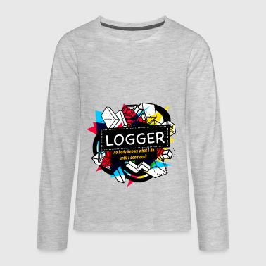 Logger Clothes LOGGER - Kids' Premium Long Sleeve T-Shirt
