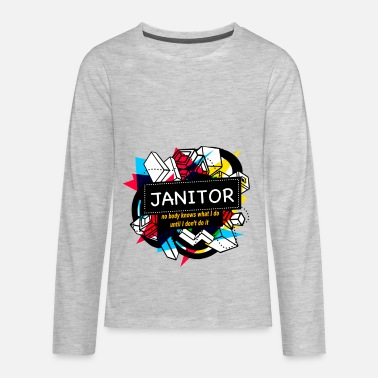 Janitor JANITOR - Kids' Premium Long Sleeve T-Shirt