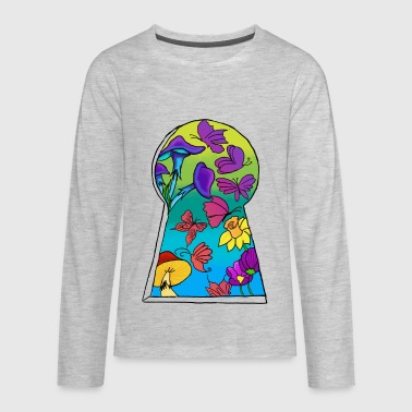 Keyhole to a new location - Kids' Premium Long Sleeve T-Shirt