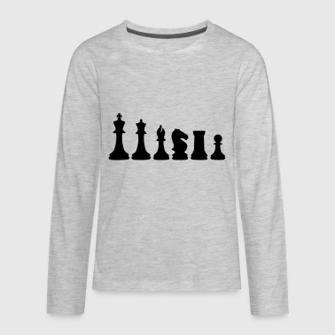 Chess Chess, chess piece, chessman - Kids' Premium Long Sleeve T-Shirt