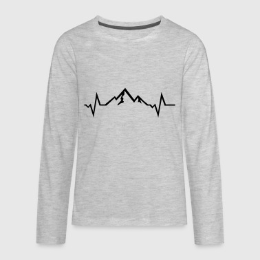 Alps Mountain - Heartbeat - Kids' Premium Long Sleeve T-Shirt